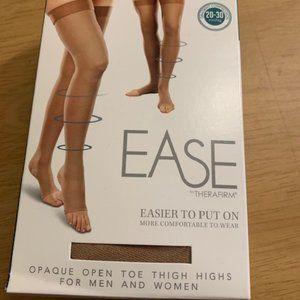 Therafirm Ease Sand Thigh High Socks 20-30 mmhg LL